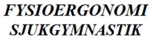 FysioErgonomi Torbjörn Åberg logo