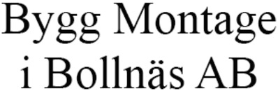 Bygg Montage i Bollnäs AB logo
