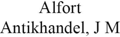 Alfort Antikhandel, J M logo