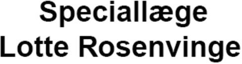 Speciallæge Lotte Rosenvinge logo
