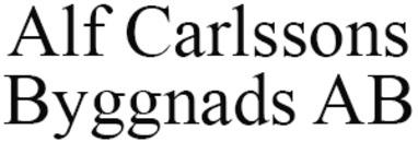 Alf Carlssons Byggnads AB logo