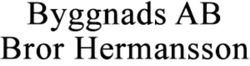 Byggnads AB Bror Hermansson logo