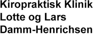 Kiropraktisk Klinik - Lotte og Lars Damm-Henrichsen logo