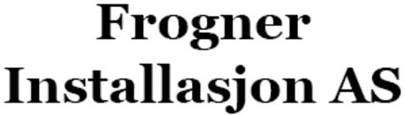 Frogner Installasjon AS logo
