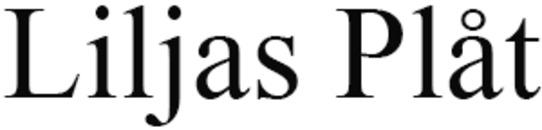 Liljas Plåt logo