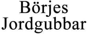 Börjes Jordgubbar logo