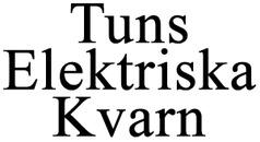 Tuns Elektriska Kvarn logo