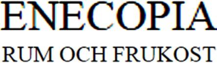 Enecopia Rum och Frukost logo