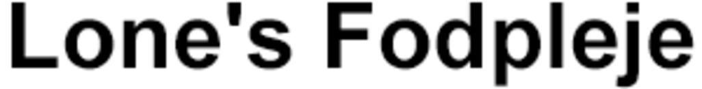 Lone's Fodpleje logo