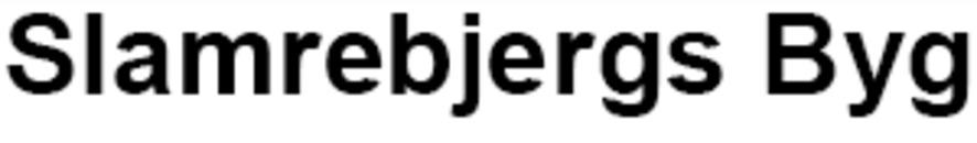 Slamrebjergs Byg logo