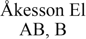 Åkesson El AB, B logo