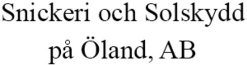 Snickeri och Solskydd På Öland AB logo
