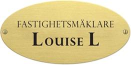 Fastighetsmäklare Louise L logo