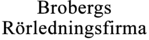 Brobergs Rörledningsfirma AB logo