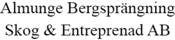 Almunge Bergsprängning, Skog och Entrepr logo