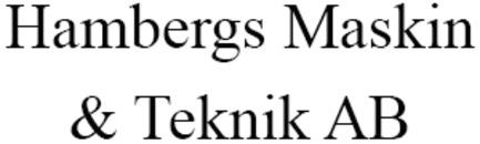 Hambergs Maskin & Teknik AB logo