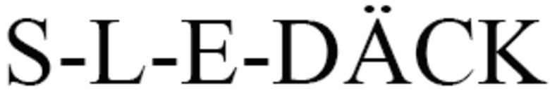 S-L-E-DÄCK logo