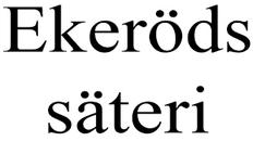 Ekeröds säteri logo