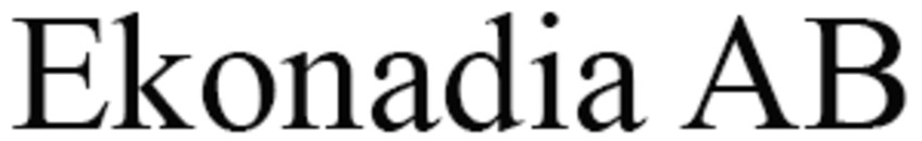 Ekonadia AB logo