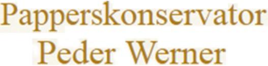 Papperskonservator Peder Werner logo