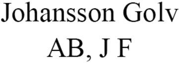 Johansson Golv AB, J F logo