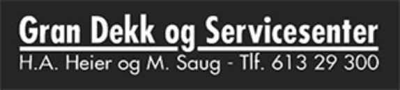 Gran Dekk og Servicesenter AS logo