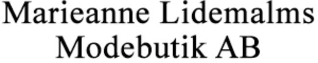 Marieanne Lidemalms Modebutik AB logo