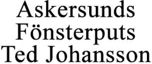 Askersunds Fönsterputs Ted Johansson logo