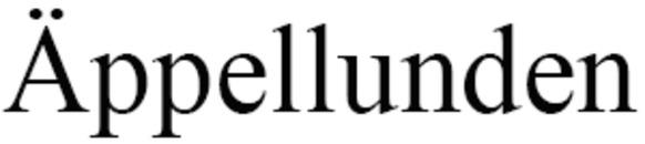 Förskola Äppellunden logo