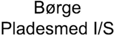Børge Pladesmed I/S logo
