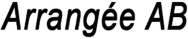 Arrangée AB logo