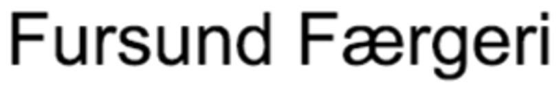 Fursund Færgeri logo