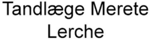 Tandlæge Merete Lerche logo