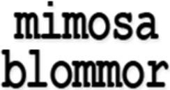 Mimosa Blommor / Interflora logo