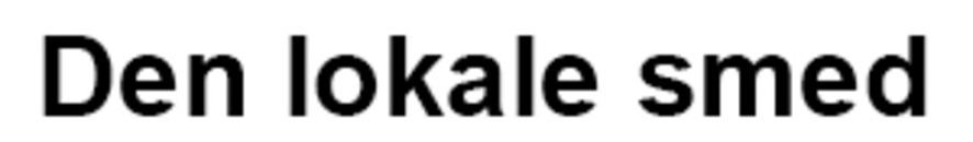 Den lokale smed logo