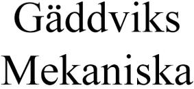 Gäddviks Mekaniska AB logo