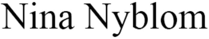 Nyblom Nina logo