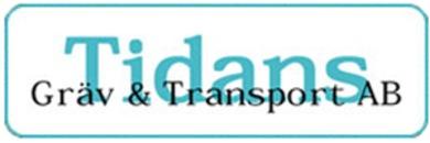 Tidans Gräv & Transport AB logo