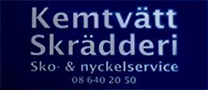 Sickla Kemtvätt och Skrädderi & Nyckel, Sko logo