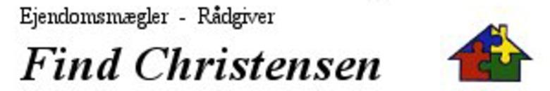 Ejendomsmæglerfirmaet Find Christensen logo