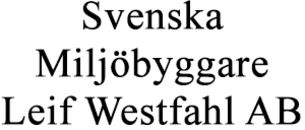 Svenska Miljöbyggare, Leif Westfahl AB logo