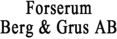 Forserum Berg & Grus AB logo