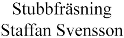 Stubbfräsning Staffan Svensson logo