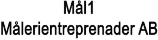 Mål1 Målerientreprenader AB logo