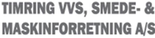 Timring VVS, Smede- & Maskinforretning A/S logo