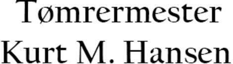 Tømrermester Kurt M. Hansen logo