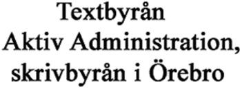 Aktiv Administration - Textbyrån logo