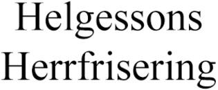 Helgessons Herrfrisering logo