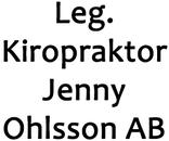 Leg. Kiropraktor Jenny Ohlsson AB logo