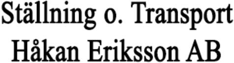 Ställning o. Transport Håkan Eriksson AB logo